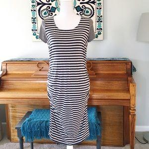 Jessica Simpson Maternity Striped Midi Dress